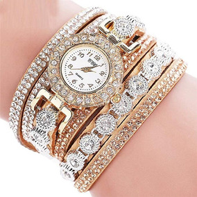 de137987592 Relógio Luxo Gold Fashion Strass - Relógios no Mercado Livre Brasil