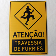 Placa Decorativa Brasil Furfest Travessia De Furries