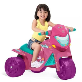 Moto Elétrica Infantil Feminina Brinquedo Criança Feliz