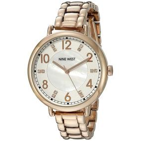 Relógio Original Nine West Womens Nw1157gngd Gunmetal Case ... 89f0dd200c