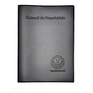 Capa Porta Manual Proprietário Volks Couro Eco