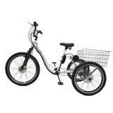 Triciclo Elétrico Machine Motors Deluxe Lithium 350w Branco