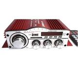 Amplificador De Sonido P/carro Stereo Usb/mp3/fm/aux 60w