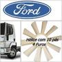 Hélice Do Radiador Ford Cargo Mwm Cummins 10 Pás 4 Furos