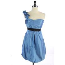 Mini Vestido Tipo Burbuja Marca Phoebe Couture De Seda