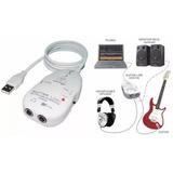 Placa Som Externa Behringer Ucg-102 Usb Interface Guitarra