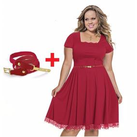 Vestido #42 Não Longo Sem Renda Vermelho Festa Casamento