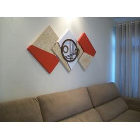 Quadro Abstrato P Interiores Sala -o Melhor Chique