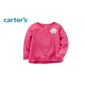Camiseta Manga Longa Rosa Meninas 6 Meses Carter