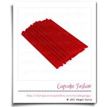 Palitos Plástico Paletas 15cm Cakepop Pop Rojo #1471