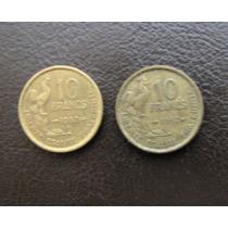 3 Monedas Francesas De 10 Y 20 Francos Año 1951 A 1953