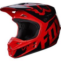 Casco Fox V1 Niño Rojo 2017 Motocross Atv Moto !! Talla Yl