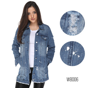 Jaqueta Jeans Longa Feminina Moda Blogueira Destroyed 2018!