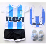 Kit Racing Club Bebe Camiseta Escarpin Babero Y Boca River