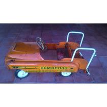 Carro Coche De Pedales Marca Apache Bomberos