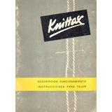 Manual Para Máquina De Tejer Knittax S7, Digital En Pdf