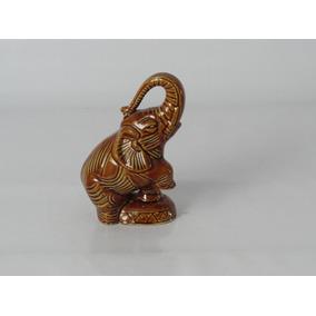 Elefante Bibelô De Louça Antigo Decoração #cf0962