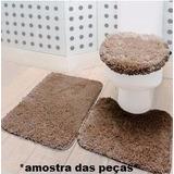 Tapete Jogo Banheiro Prime 3 Pç Cor Cáqui Jolitex