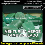 Cuarzo Trc23 Venturina Verde Gde Tamborileado Por Kilo