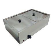 Molheira Elétrica Inox Banho Maria Com 2 Cubas Total 10 Lts