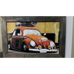 Quadro Vintage Retro, Kombi, Fusca, Antigo,