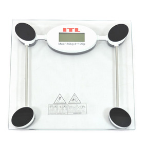 Bascula Digital Vidrio Templado Fitness Dieta Presicion Baño