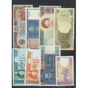 Asia Lote De 24 Billetes Diferentes Sin Circular