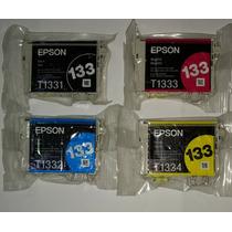 Cartuchos Epson T133 Kit Com 04 Peças Sem Caixa