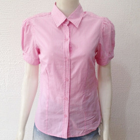 Camisa Rosa Feminina Manga Curta Old Factory Tam P