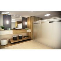 Kit Box Light F3 2,50m Banheiro Vidro Temperado Sem Vidro
