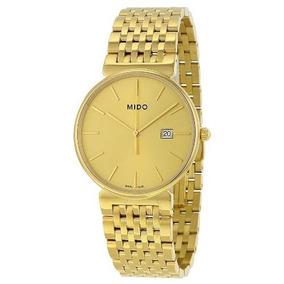 Relógio Mido M0096103302100 Dorada Slim Banhado A Ouro