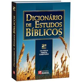 Dicionário De Estudos Bíblicos Com Todos Verbetes Comentados