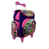 Mochila Escolar Infantil Dora Aventureira Com Rodinhas