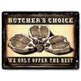 Carnicería Tienda De Carne Metal Señal Carne + Envio Gratis
