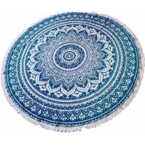 Canga Indiana Redonda Azul Mandala - Imp. Da Índia