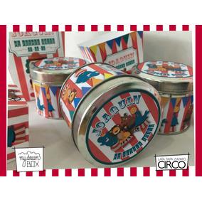 Souvenir Evento Lata Personalizada Golosinas Circo Payazo
