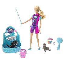 Boneca Barbie Quero Ser Treinadora Do Seaworld