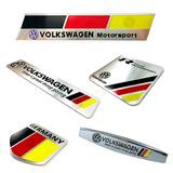 Emblema R-line Vw Alumínio Alemanha Diversos Modelos