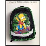 Mochila #201 Bart Simpson Verde