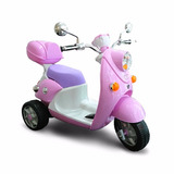 Moto A Bateria Scooter Infantil Luces Musica Pedal Baul