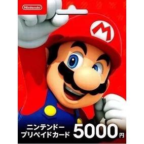Cartão Nintendo Eshop Japonesa 5000 Ienes - Entrega Digital