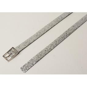 Cinturón Brillo Plateado - Mujer - La Merceria