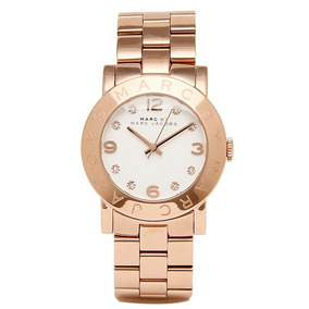 Reloj Marc Jacobs Mbm3077 Mujer Acero Dorado 50m Sumergible