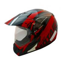 Capacete Ebf Cross Super Motard Modelo Iron Vermelho E Preto