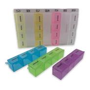 Caixa Porta Comprimidos Medicamento Dia Semanal 28 Compartim