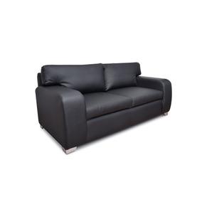 Sofa Venecia Disponible En Tipo Cuero Negro Y Blanco