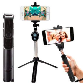 Pau Selfie Monopod Tripe Bastão Retrátil Controle Bluetooth
