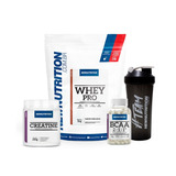 Kit Whey Pro+ Bcaa 2400+ Creatina+ Shaker - Newnutrition