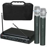 Microfone Sem Fio Duplo Karsect Kru302 Mao - Loja Kadu Som