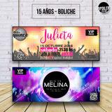 Invitaciones / Tarjetas De Cumpleaños - 15 Años / Boliche